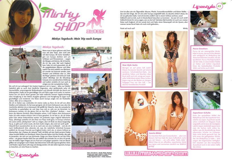 MinkyShop In Peach Magazine