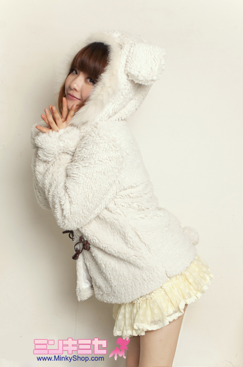 Super Cute Bear Ear Toggle Jacket