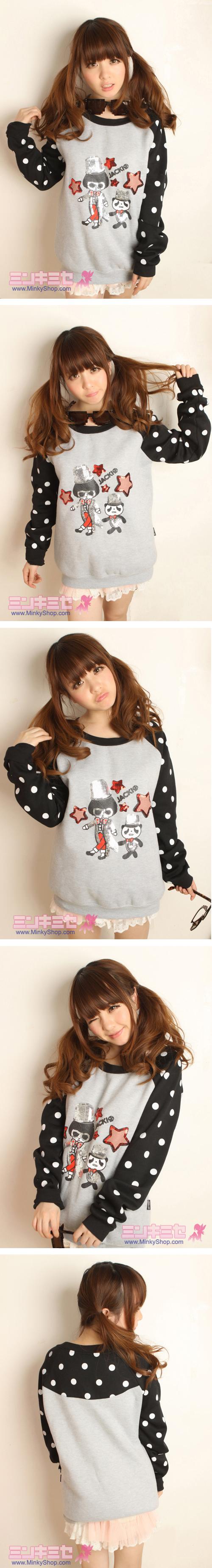 Cute Polka Dot Sequins Sweater