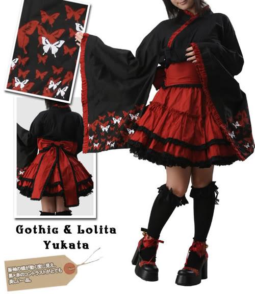 Japanese Furisode Gothic Lolita Yukata