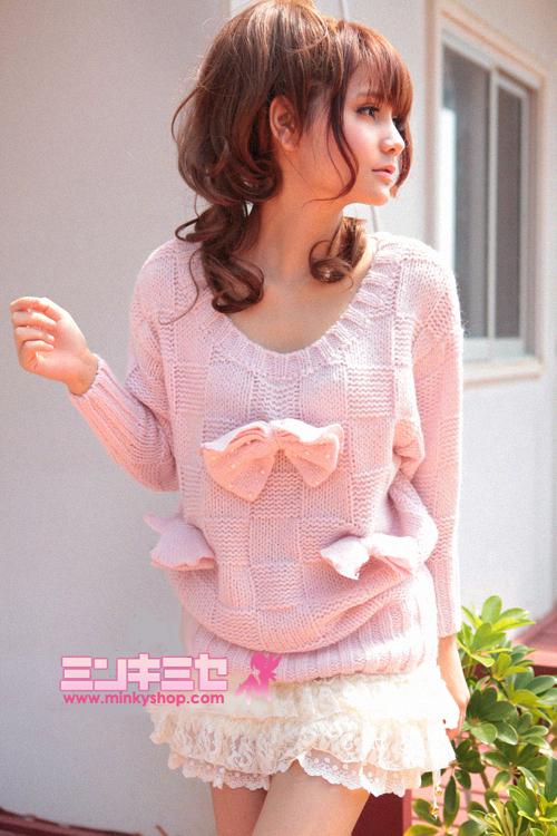 Kawaii Sweet Fairy Bow Sweater