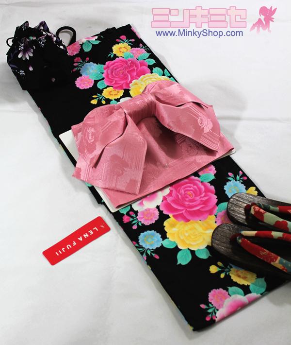 LENA FUJII Cherry Blossom Yukata Set
