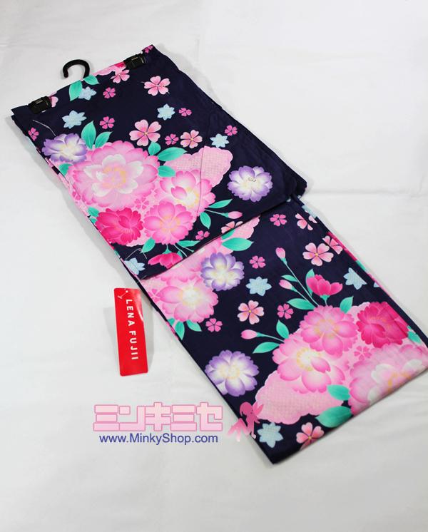 (LENA FUJII) Cherry Blossom Yukata Set