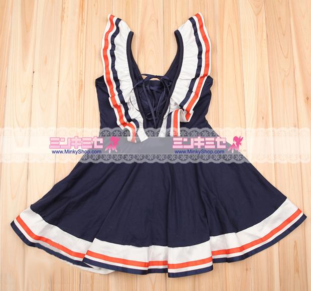 Retro Navy Dancehall Dress