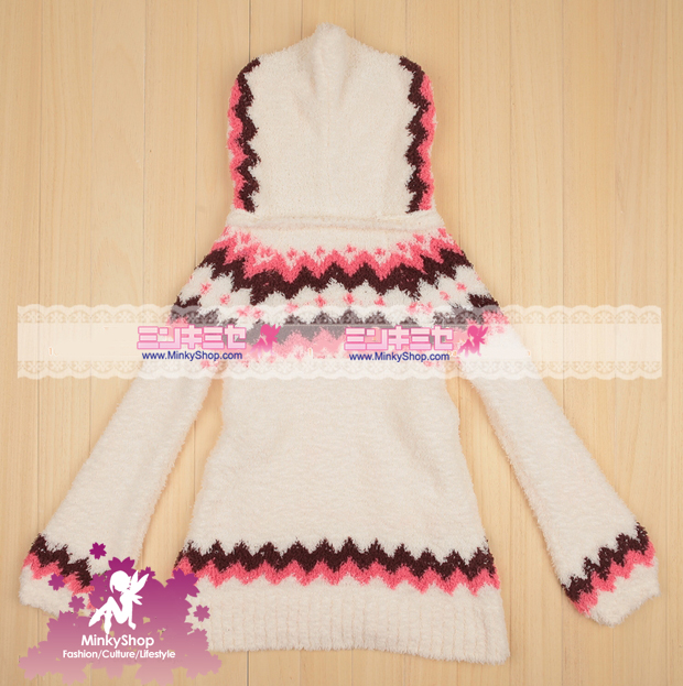 Super Soft Furry Hooded Long Jumper