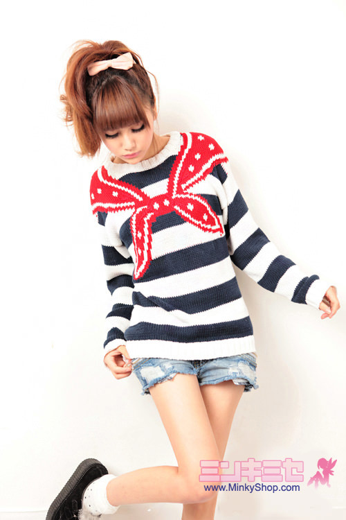 WC Sailor Striped Knit Sweaterr