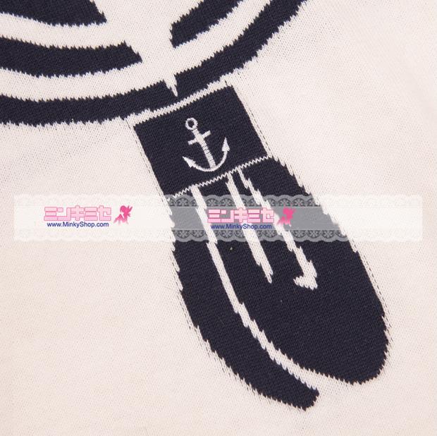 W♥C Sailor Anchor Knit Sweater