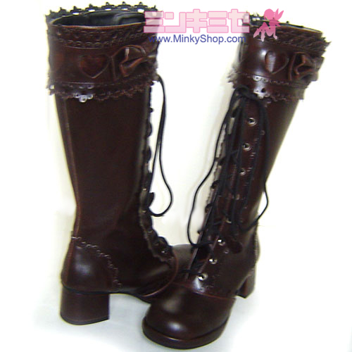 Baby Style Sweet Lolita Heart Decoration Boots