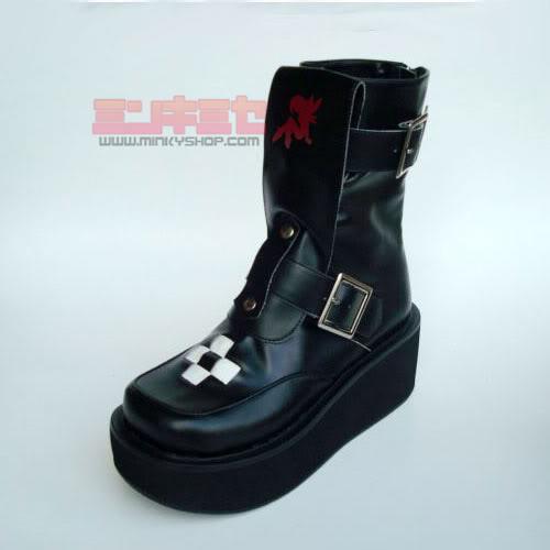 Cross Punk Platform Boots