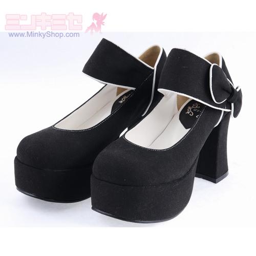 Elegant Suede Heels Classic Lolita