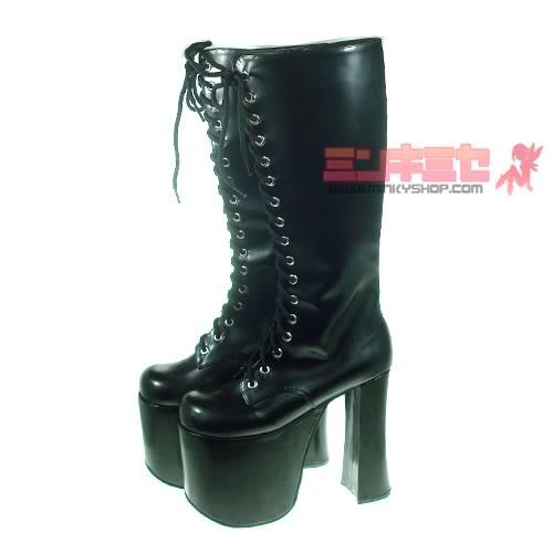 Japanese race queen platform boots