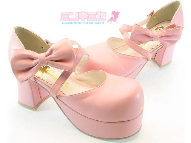 Secret Shop Platform Bow Lolita Heels
