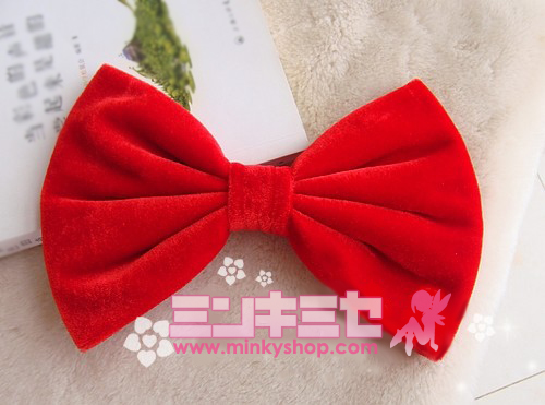 Kawaii Velvet Hair Bow